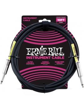 ERNIE BALL 6048 Cavo strumento Nero Jack 3 mt