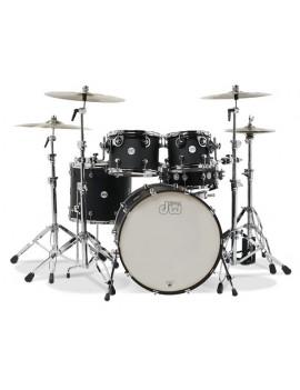 Drum Workshop Shell Set Design- BLACK SATIN 20\'\'/12\'\'/14\'\'/14\'\'