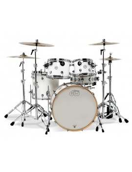 Drum Workshop Shell Set Design- WHITE GLOSS 20\'\'/12\'\'/14\'\'/14\'\'