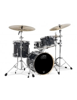Drum Workshop Shell Set Performance Finish Ply / Satin Oil- BLACK DIAMOND 24\'\'/12\'\'/16\'\'