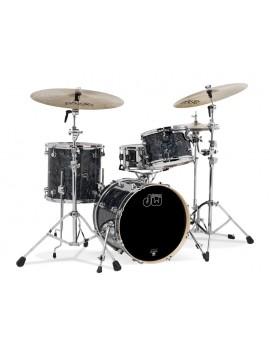 Drum Workshop Shell Set Performance Finish Ply / Satin Oil- BLACK DIAMOND 24\'\'/12\'\'/16\'\'