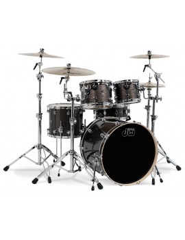 Drum Workshop Shell Set Performance Finish Ply / Satin Oil- PEWTER SPARKLE 22\'\'/12\'\'/16\'\'