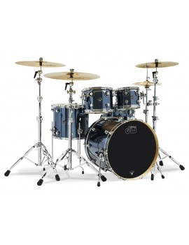 Drum Workshop Shell Set Performance Finish Ply / Satin Oil-CHROME SHADOW 22\'\'/12\'\'/16\'\'