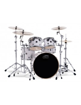 Drum Workshop Shell Set Performance Finish Ply / Satin Oil-WHITE MARINE PEARL 22\'\'/12\'\'/16\'\'