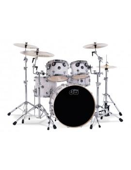 Drum Workshop Shell Set Performance Finish Ply / Satin Oil-WHITE MARINE PEARL 22\'\'/12\'\'/16\'\'