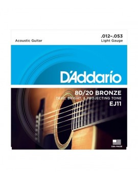 Daddario  EJ11 Extra Light .012-.053 Bronze Round Wound