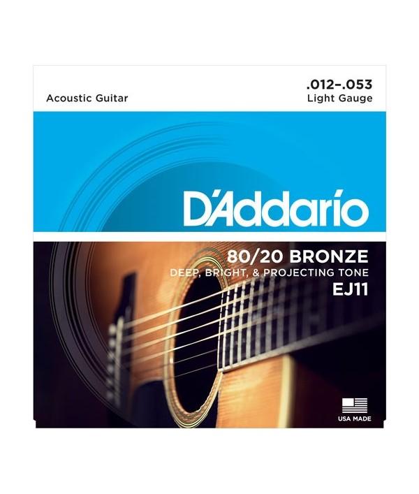 Daddario  EJ11 Extra Light .012-.053 Bronze Round Wound