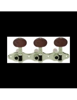 Meccaniche chitarra classica MHC200NI NICKEL bottone marrone