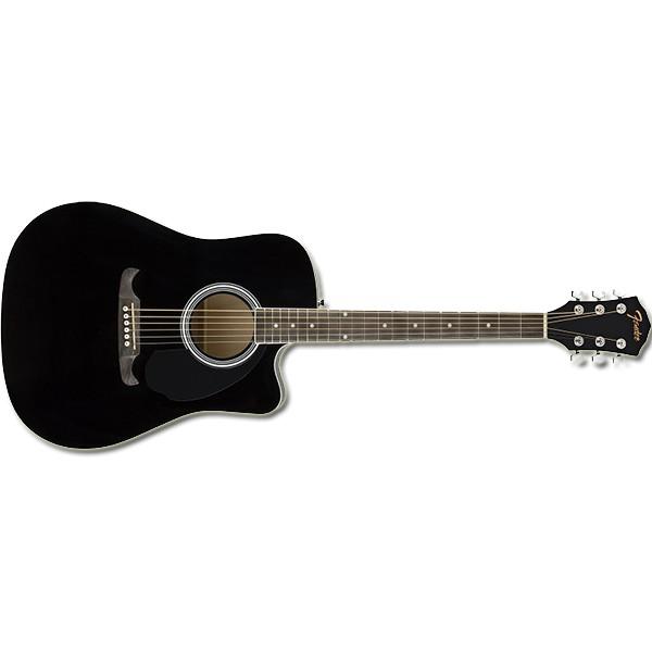 Fender FA-125CE DREADNOUGHT, WALNUT FINGERBOARD BLACK