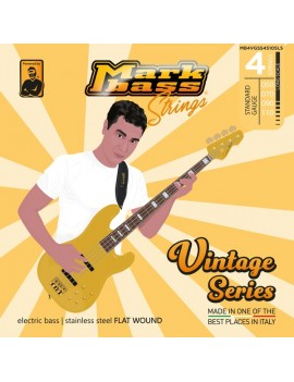 electric bass stainless steel FLAT WOUND - 050 070 090 110