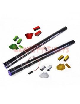 Cannone elettrico 80cm. coriandoli in mylar multicolor