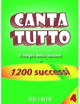 Cantatutto Vol. 4Il Meglio Della Canzone In 1200 Successi