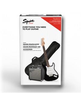 Stratocaster Pack  Laurel Fingerboard  Black  Gig Bag 10g