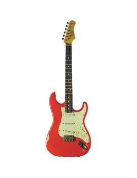 EKO GUITARS - S-300 RELIC FIESTA RED
