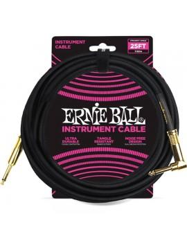 ERNIE BALL - 6058 CAVO BRAIDED BLACK/BLACK 7,62 M