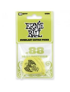 ERNIE BALL - PLETTRI EVERLAST GREEN 0.88MM BUSTA DA 12