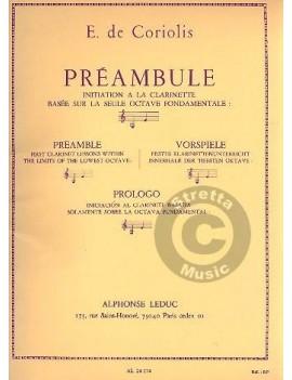 CORIOLIS DE PREAMBULE