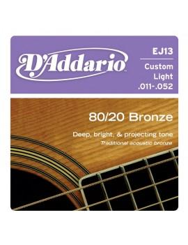Daddario EJ13 Custom Light .011-.052 Bronze Round Wound