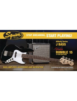 Affinity J Bass® W/ Rumble™ 15 Amp, Black