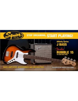 Affinity J Bass® W/ Rumble™ 15 Amp, Brown Sunburst