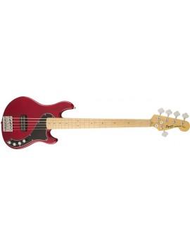 Deluxe Dimension Bass™ V, Maple Fingerboard, Crimson RedTransparent