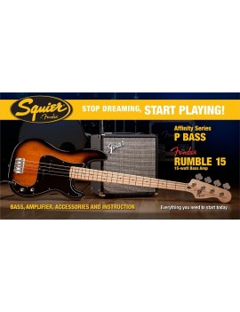 Affinity P Bass® W/ Rumble™ 15 Amp, Brown Sunburst