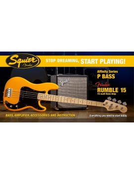Affinity P Bass® W/ Rumble™ 15 Amp, Butterscotch Blonde