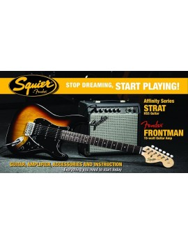 Affinity Series™ Stratocaster® (PACK)  HSS with Fender Frontman® 15G Amp,Brown Sunburst