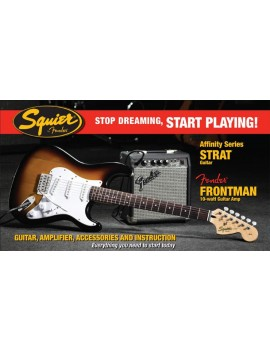 Affinity Series™ Stratocaster® (PACK) with Fender Frontman® 10G Amp, BrownSunburst