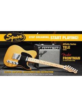 Affinity Series™ Telecaster® (PACK) with Fender Frontman® 15G Amp,Butterscotch Blonde