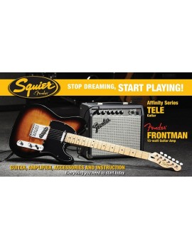 Affinity Series™ Telecaster® (PACK) with Fender Frontman® 15G Amp, BrownSunburst