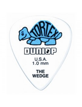 DUNLOP - 424P TORTEX WEDGE BLUE 1.0mm