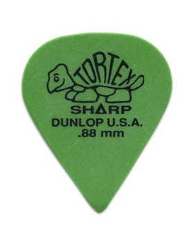 DUNLOP PLETTRO 412P.88 TORTEX Sharp Green .88mm
