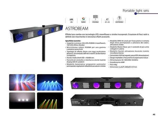 Effetto Combo moonflower + strobo, 256 RGBWA LED (moonflower) + 192 LED (Strobe)