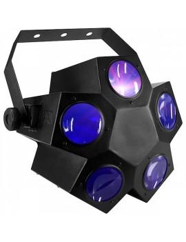 Effetto Multiraggio a 5 lenti, 160LEDs RGBW, 2 ch dmx, modalità Sound Auto