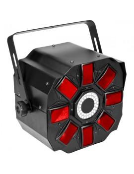 Effetto Multiraggio LED 5x3W RGBWA 42 SDM5050 white, 5ch DMX, funzione Musicale / Automatica