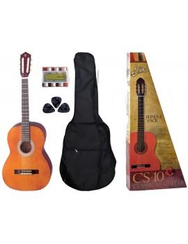 EKO CS-10 PACK chitarra classica 4/4 con borsa con tracolla, pitch pipe, 3 plettri