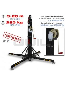 ELC-640 Stativo telescopico. Altezza massima: 5,20 m / Portata massima: 250 kg