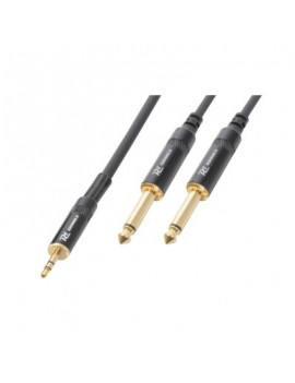 AG7133 Cable 3.5 Stereo Jack - 2 x 6.3 Mon o Jack 3,0m