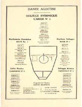 AGOSTINI, DANTE - SOLFEGE RYTHMIQUE, VOLUME 1 : MESURES SIMPLES