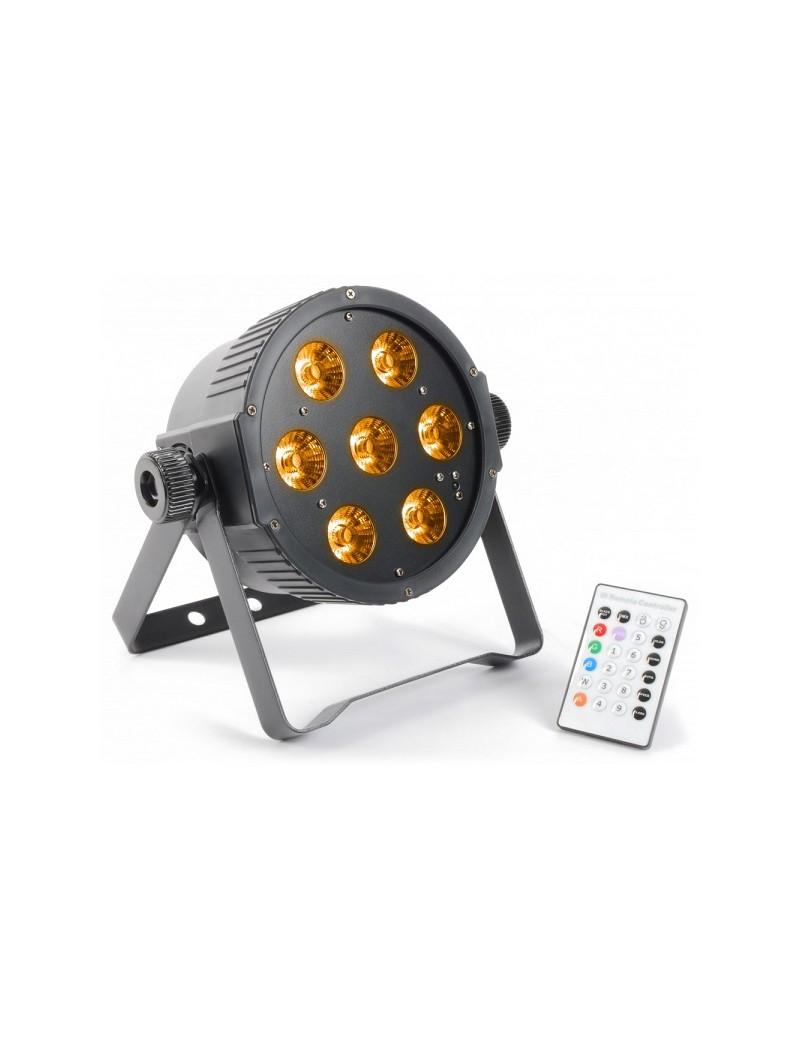 FlatPAR 7x 15W RGBAW LEDs DMX IR