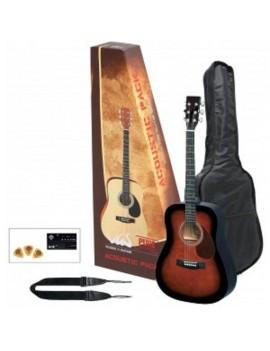GEWApure Chitarra acustica VGS Acoustic Pack Chitarra violinburst
