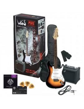 GEWApure Chitarra elettrica VGS RC-100 Guitar Pack 3-Tone Sunburst