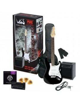 GEWApure Chitarra elettrica VGS RC-100 Guitar Pack Black