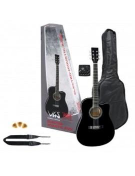 GEWApure Chitarra elettroacustica VGS Electro-Acoustic Pack Chitarra, nero