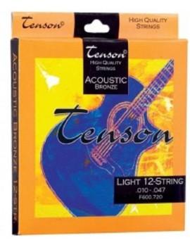 GEWApure Corde per chitarra acustica/folk Tenson Bronze .010-.047,Light Set+