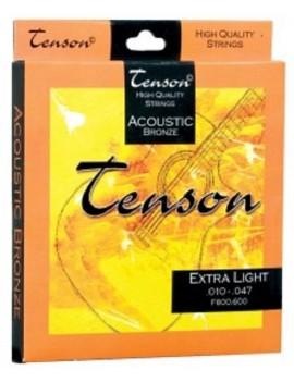GEWApure Corde per chitarra acustica/folk Tenson Bronze .011-.052,Custom Light Set+