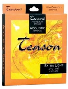 GEWApure Corde per chitarra acustica/folk Tenson Bronze .012-.053,Light Set+
