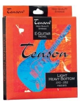 GEWApure Corde per chitarra elettrica Tenson Nickel .010-.052, Light Top/Heavy Bottom Set+