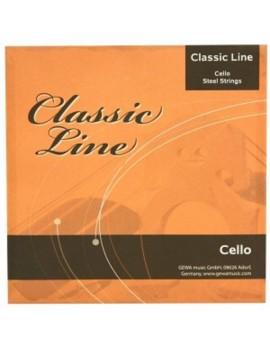 GEWApure Corde per violoncello Nickel 1/4